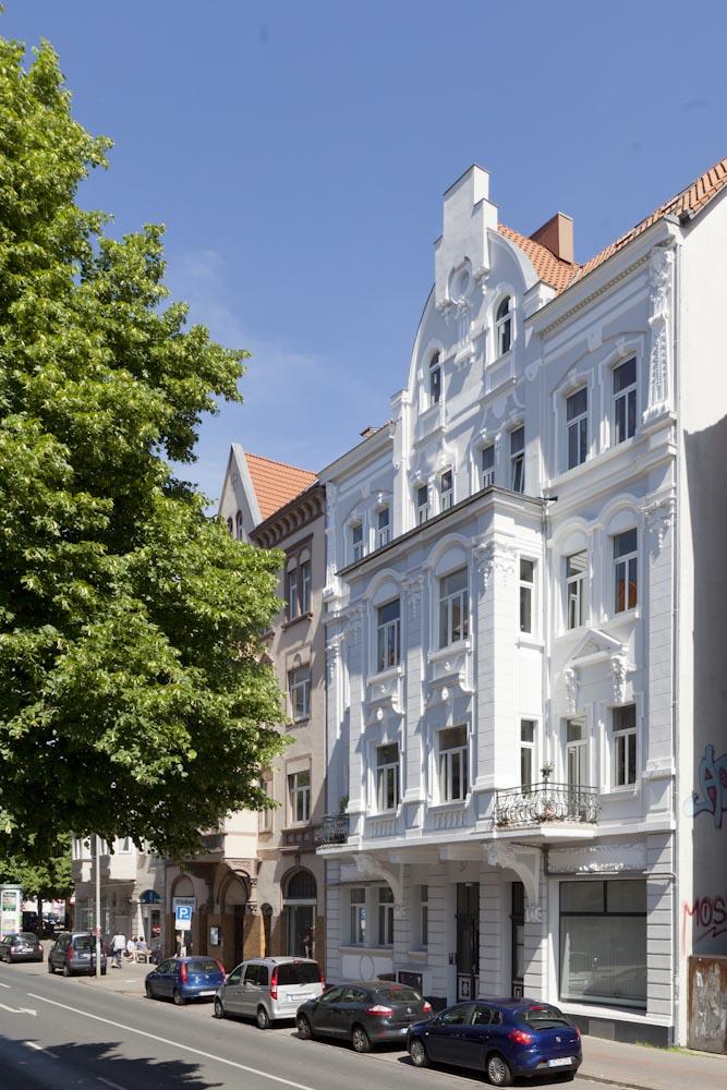 Sanierung einer historischen Fassade in Hannover