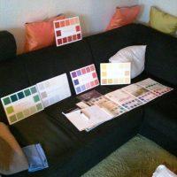 Farbberatung beim Kunden