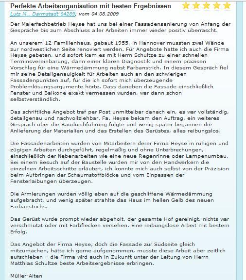 Müller-Ahlten Referenz
