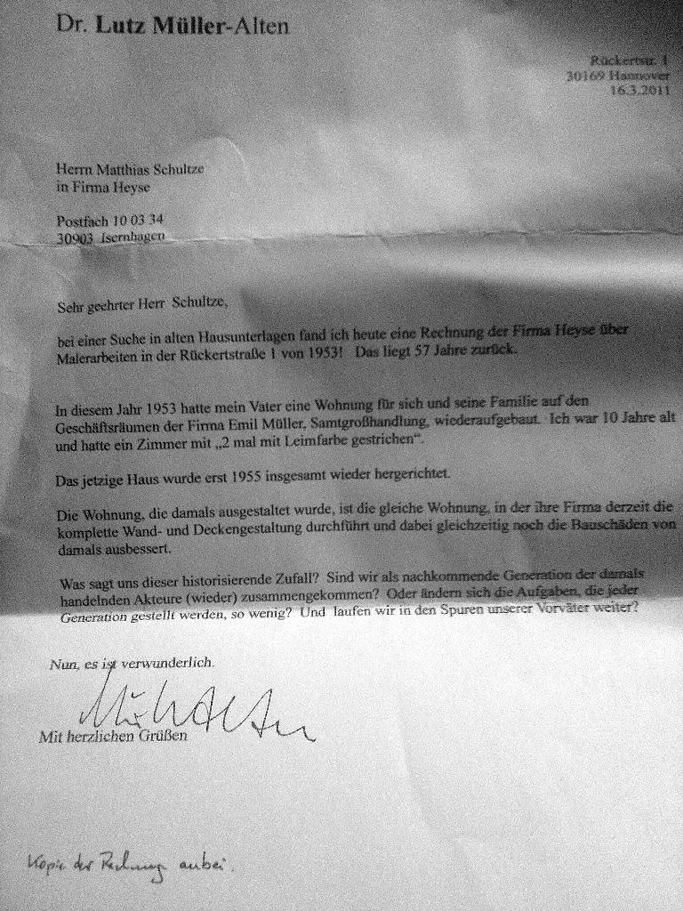 Brief von Dr. Müller-Ahlten