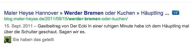 Werder Bremen oder Kuchen