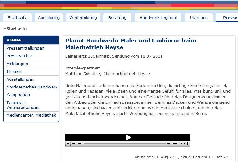 Planet Handwerk - Audio-File