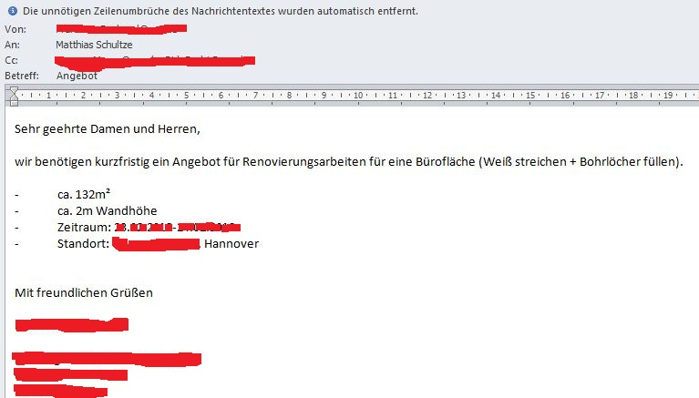 Anfrage E-Mail-oI