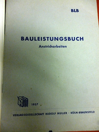 Bauleistungsbuch Anstricharbeiten 1957