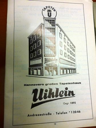 Tapetenhaus Uihlein Ausgabe 1969