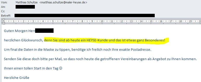 AB-Neuer HEYSE Kunde 23.02.2012