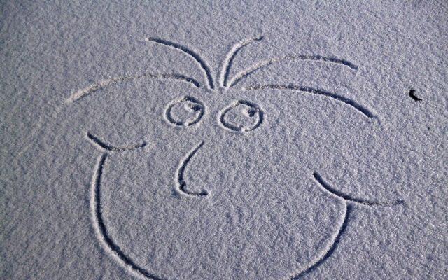 Lächeln im Schnee