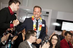 """Große Freude - Der Vortarg """"Maler 2.0"""" gewinnt die 6. 20x20 Business Night Hannover"""