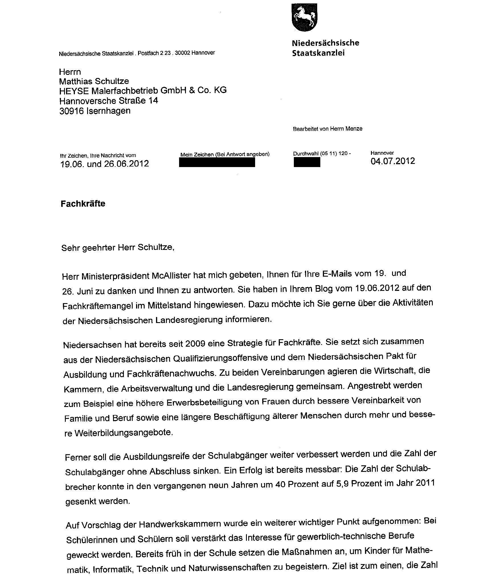 Raumausstatter ausbildung  Post von McAllister zum Thema Fachkräftemangel im Mittelstand ...
