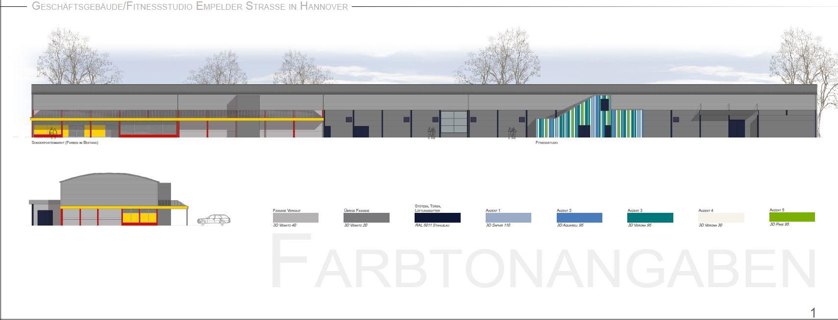 Fassadenentwurf, Malerarbeiten, Metallbeschichtung, Hannover, Maler, http://www.maler-heyse.de
