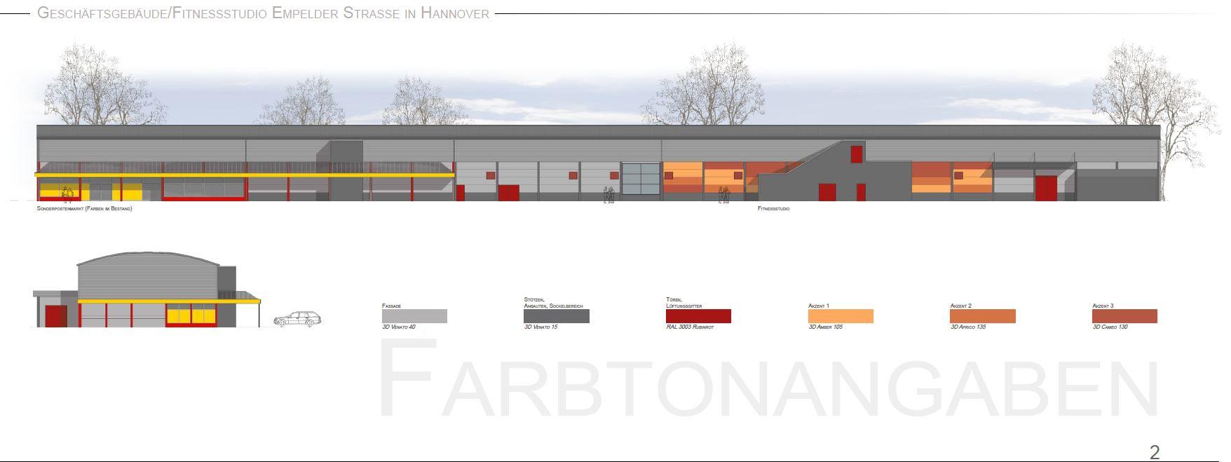 Fassadenentwurf, Malerarbeiten, Metallbeschichtung, Maler, Hannover, http://www.maler-heyse.de