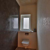Chalix - polierte Wand im Herren WC, Spachteltechnik im Lifestylestore Hannover, Maler Hannover