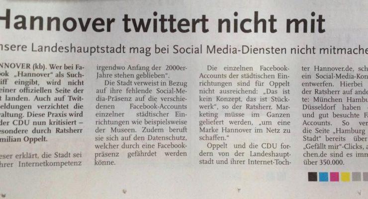 Hannover sagt nein zu Social Media
