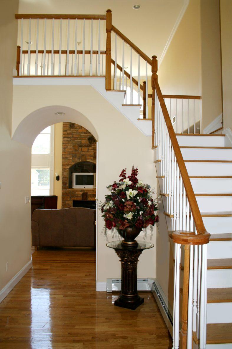 Im Treppenhaus - Blickfang des Hauses