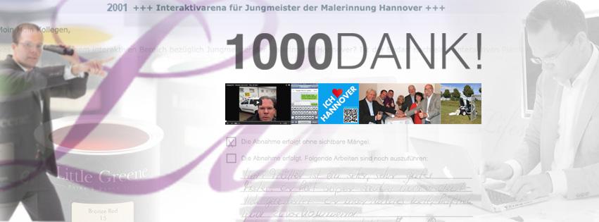 1000 Fans auf Facebook - Maler Heyse sagt DANKE