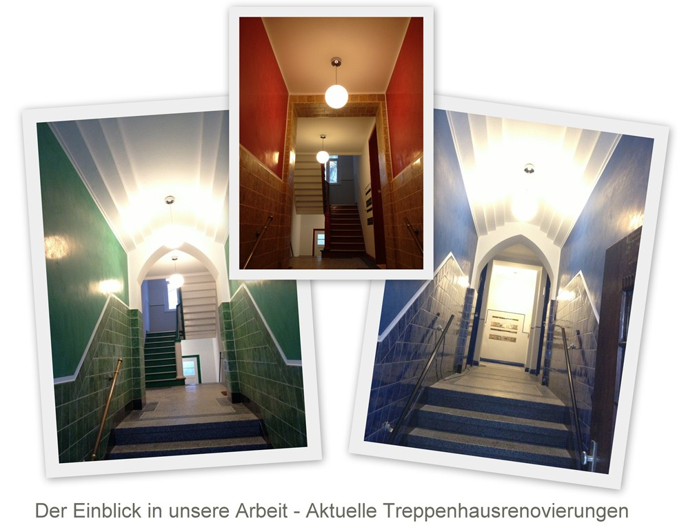 Einblick in aktuelle Treppenhausprojekte vom Malerfachbetrieb Heyse in Hannover