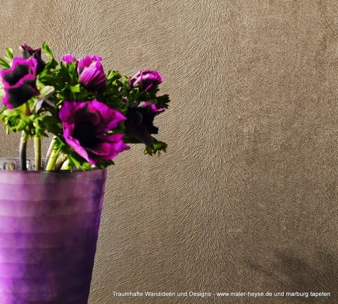 exklusive tapeten gold rost florales farbe f r. Black Bedroom Furniture Sets. Home Design Ideas