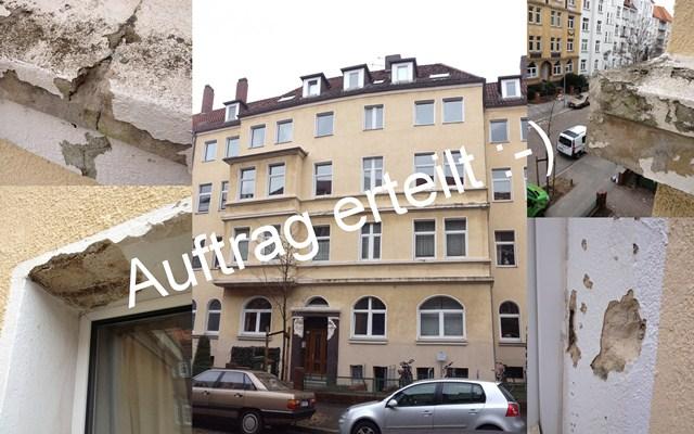 Fassade Hannover Simrockstraße 26 Auftrag erteilt