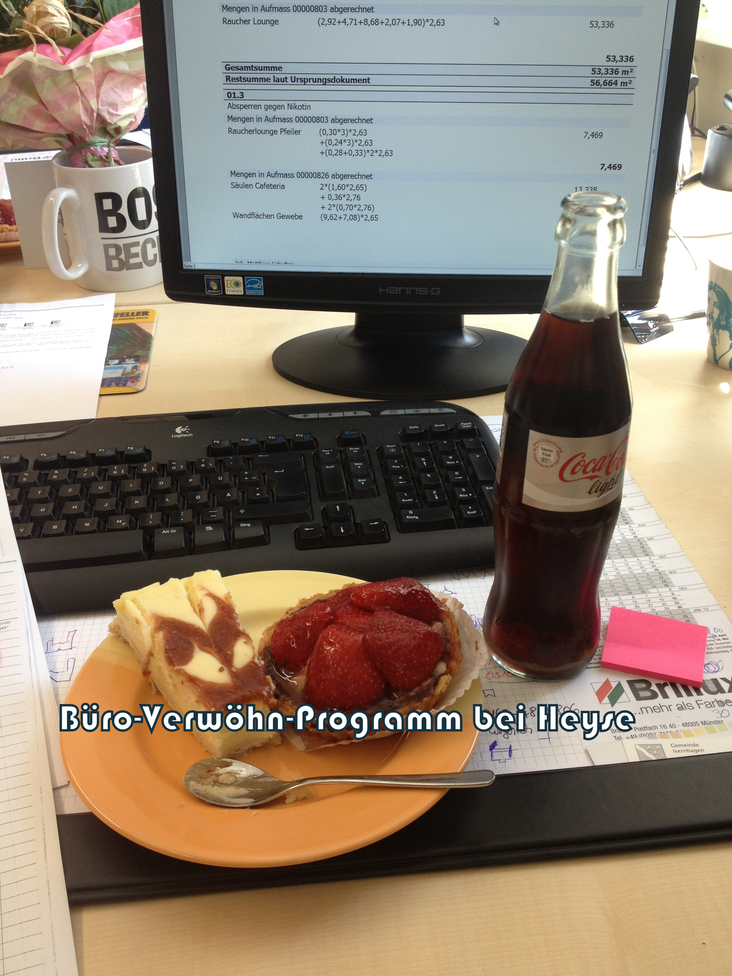 Buroarbeit So Werden Wir Im Buro Verwohnt Einblick Kuchen Cola