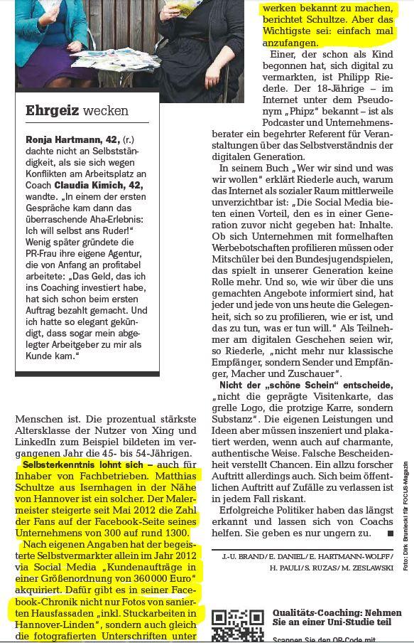 Titelgeschichte aus Focus Magazin Nr. 26 24.06.2013 - Maler Heyse
