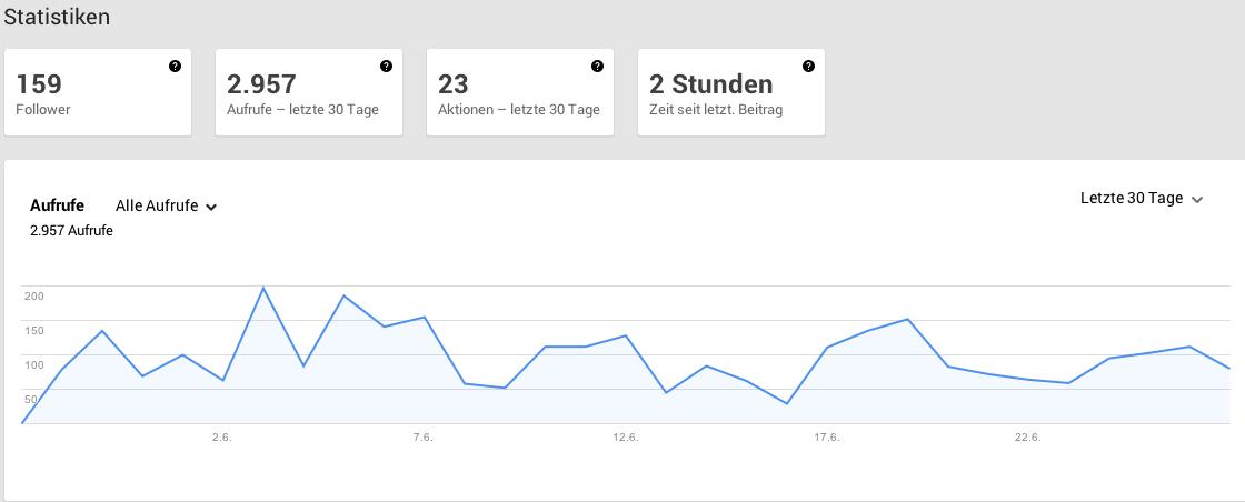 Google+ Auswertung Maler Heyse Juni 2013