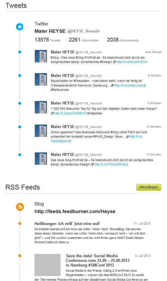 Neues Xing-Profil - Twitter gleich intergriert