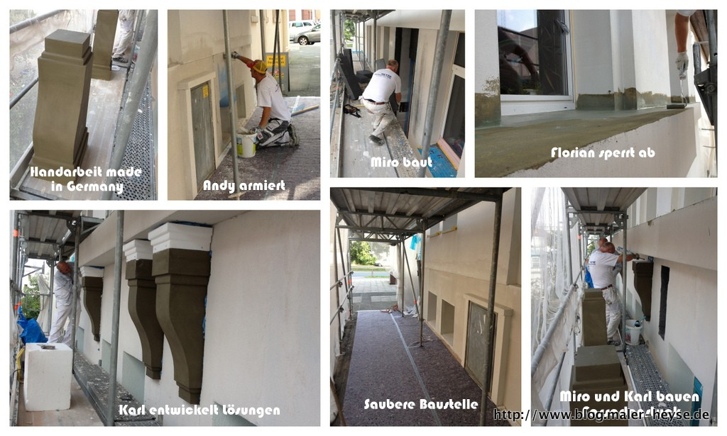 Maler Heyse - Team auf der Baustelle