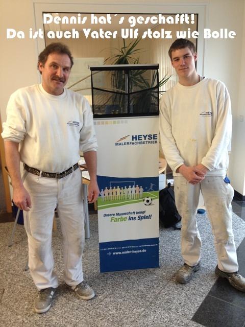Vater und Sohn im Team bei Maler Heyse