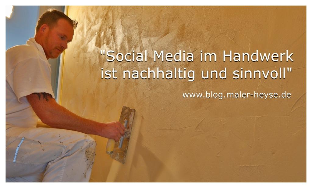 Handwerk hat goldenen Boden - Social Media KMU