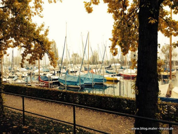 Farben, Herbst, Boote, Maler Hannover