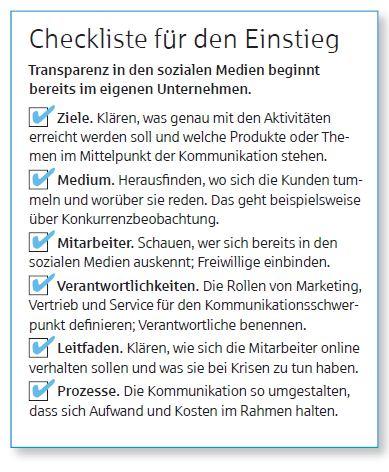 Social Media - Checkliste für den Einstieg