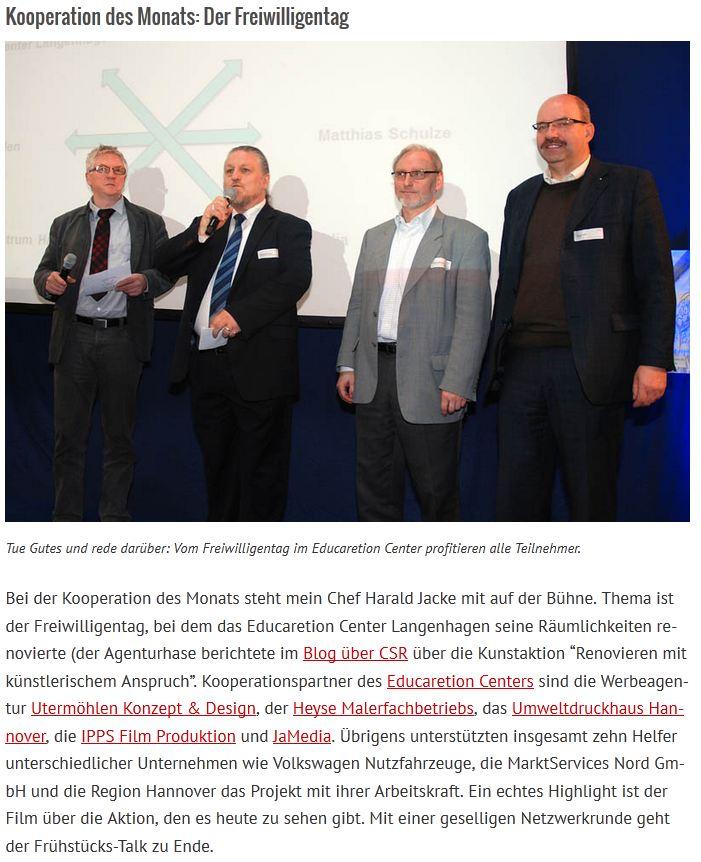 Kooperation des Monats CSR Pro Hannover Region