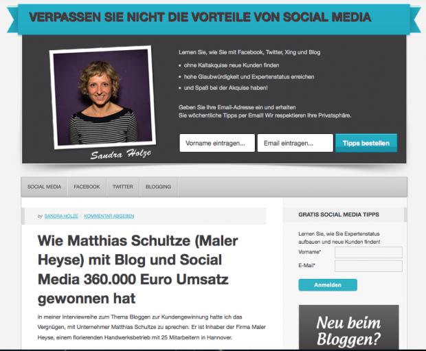 nterviewreihe zum Thema Bloggen zur Kundengewinnung