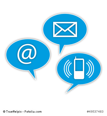 Sprechblase Kontakt Brief Telefon E-Mail