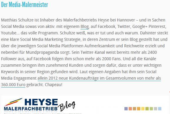 Karrierebibel Top Blogs Handwerk
