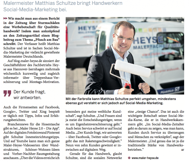 Matthias Schultze in HAZ-WirtschaftsZeitung