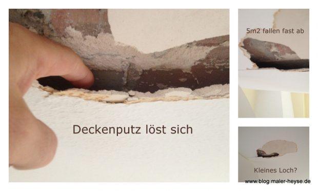 Maler Notdienst - Deckeputz löst sich