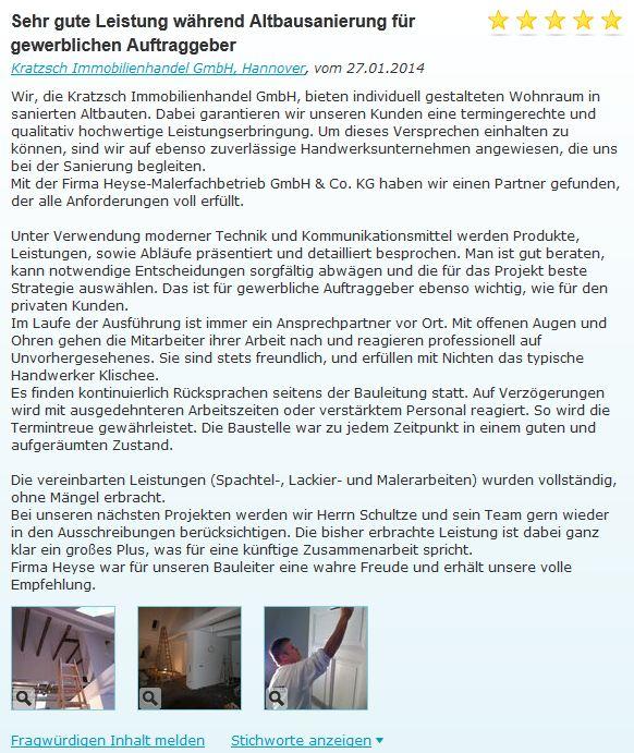 Referenz Malerarbeiten Altbausanierung Hannover