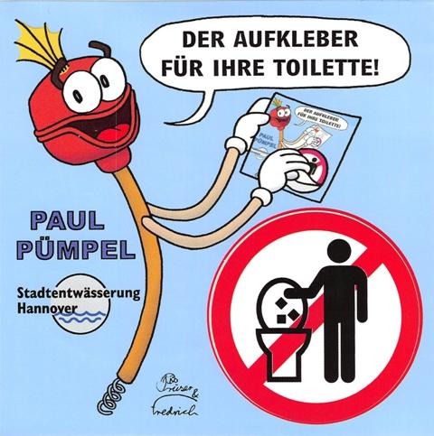 Paul Pümpel - Das Klo ist kein Mülleimer  © Stadtentwässerung Hannover