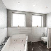 Ein neues badezimmer entsteht kundin ist restlos begeistert for Marmorputz bad