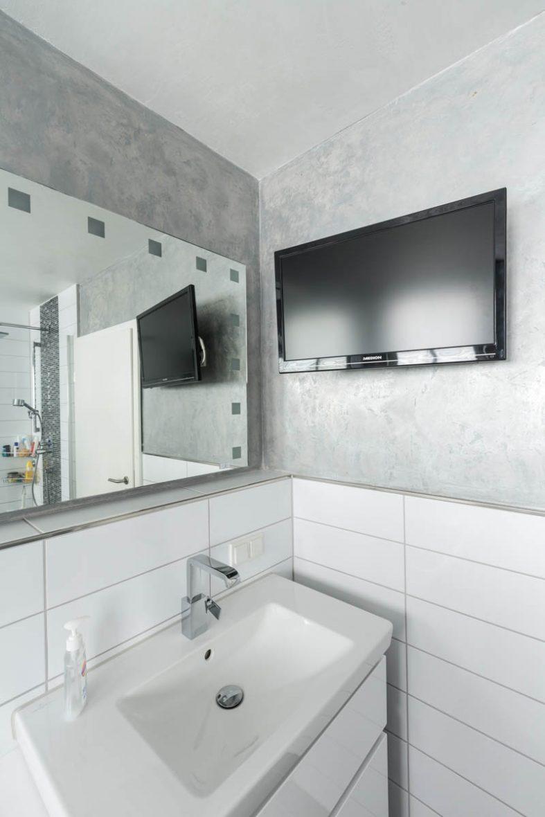 ein neues badezimmer entsteht ? kundin ist restlos begeistert ... - Wandgestaltung Im Badezimmer