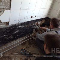 Umbau zum fugenlosen Bad