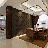 Wanddekore im 3D-Effekt aus Bambus