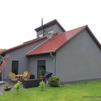 Holzfasergedämmte Fassade fertig geputzt und gestrichen