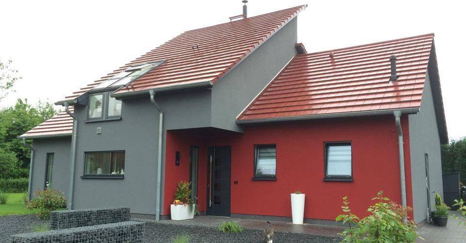 Fassade Mit Holzfaserdammplatten Auf Holzstanderbauweise Wir Haben