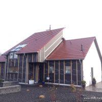 Holzfasergedämmte Fassade wurde armiert, geputzt und gestrichen