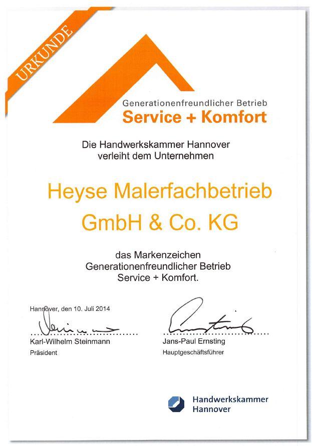 Wir sind von der Handwerkskammer Hannover ausgezeichnet worden