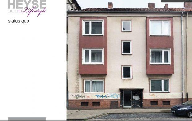 Was aus einer alten Fassade werden kann, zeigen wir vorher