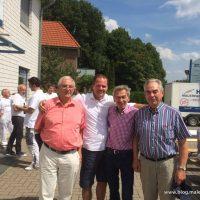 3 Chef´s hatte Herr Prager in 26 Jahre Heyse - Vereint treffen sich alle zur Abschiedsfeier