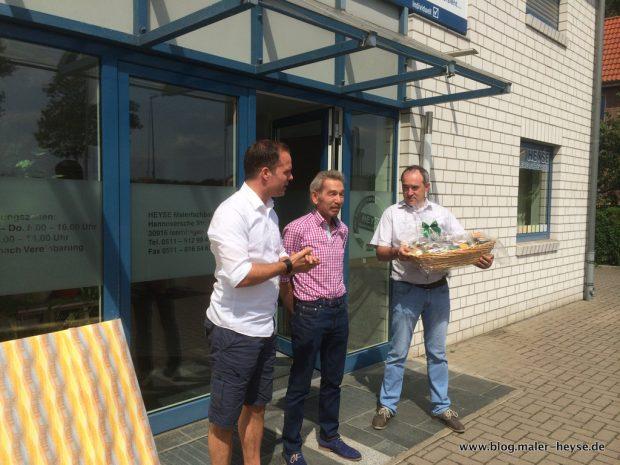 Nach fast 26 Jahren Maler HEYSE wird Ralf Prager verabschiedet